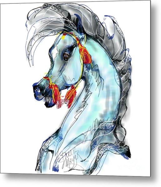 Red Tassle Stallion Metal Print