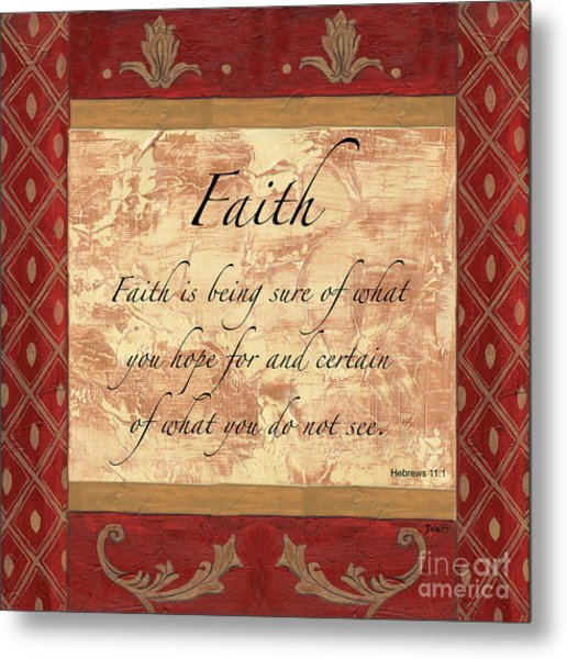 Red Traditional Faith Metal Print