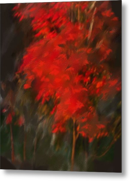 Red Tree Metal Print by Claire Whitehead