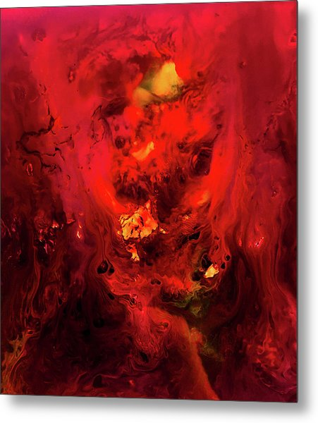 Red Universe Metal Print