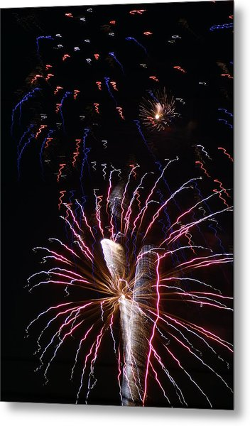 Red White And Blue Metal Print by Heather Green