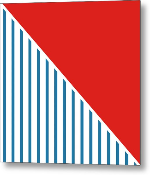 Red White And Blue Triangles 2 Metal Print