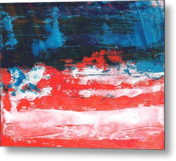 Red White Blue Scene Metal Print