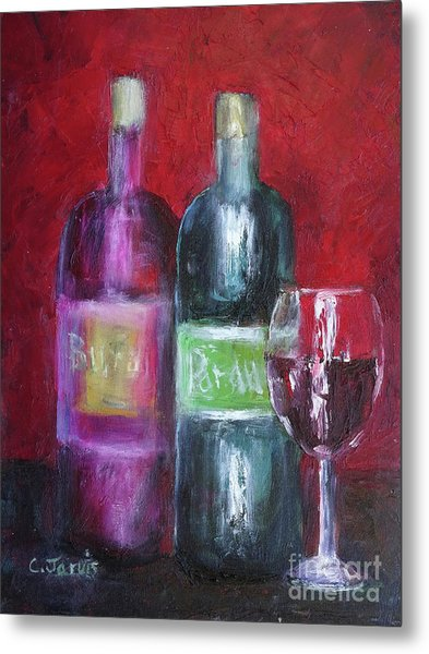 Red Wine Art Metal Print