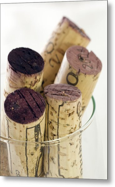 Red Wine Corks Metal Print by Frank Tschakert