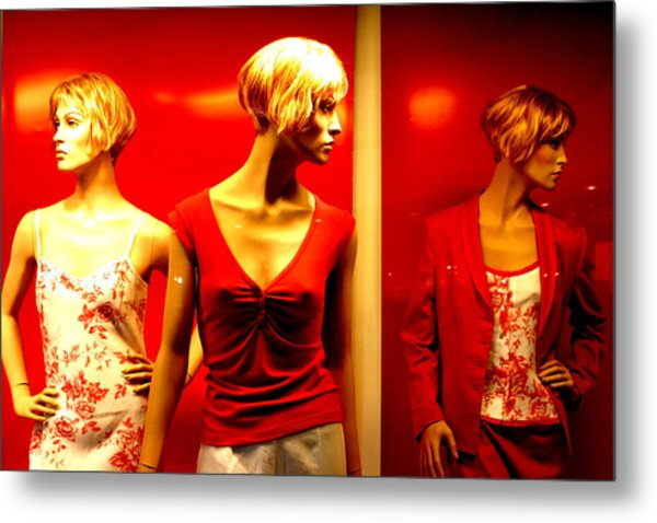 Reddy Girls Metal Print by Jez C Self