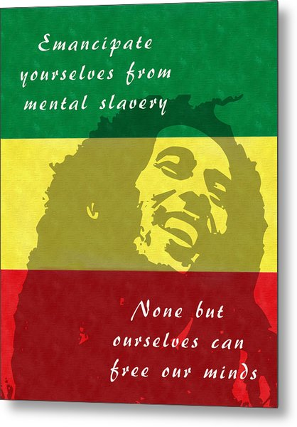 Redemption Song Free Our Minds Metal Print