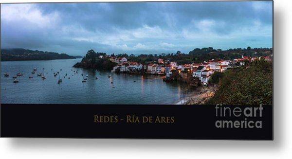 Redes Ria De Ares La Coruna Spain Metal Print