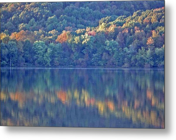 Rednor Lake Reflections - 1 Metal Print by Randy Muir