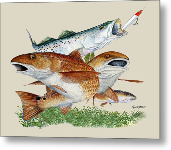 Reds And Trout Metal Print