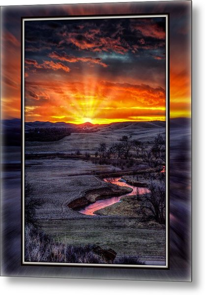 Redwater River Sunrise Metal Print
