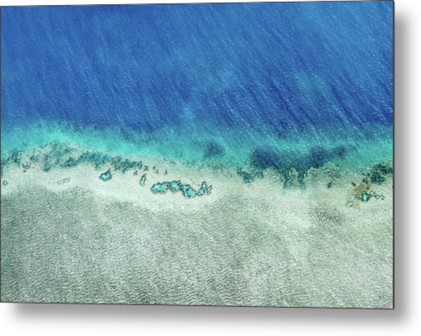 Reef Barrier Metal Print