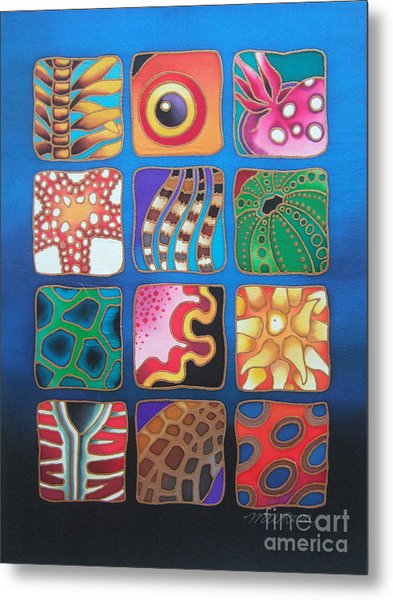 Reef Designs Vii Metal Print