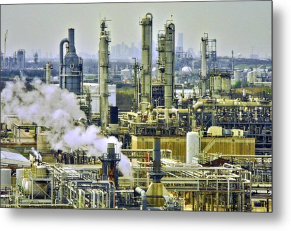 Refineries In Houston Texas Metal Print