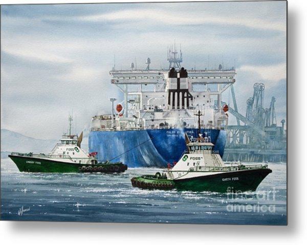 Refinery Tanker Escort Metal Print