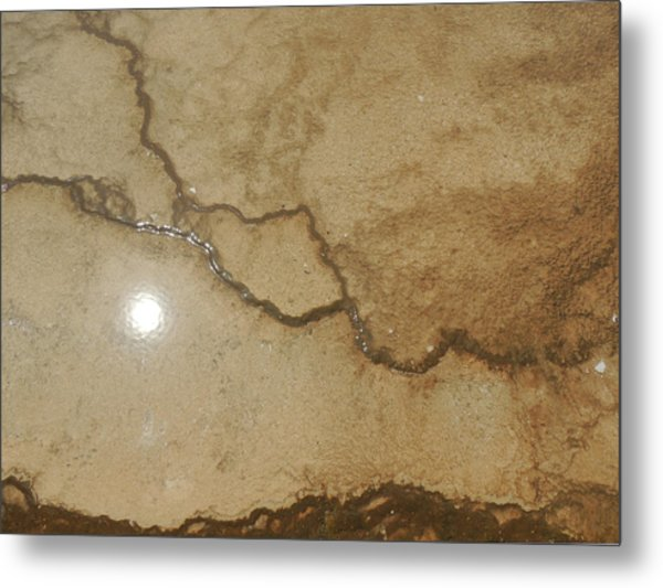 Reflected Sun In Hot Spring Metal Print