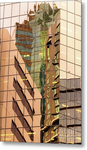 Reflecting Eagle 4 Metal Print