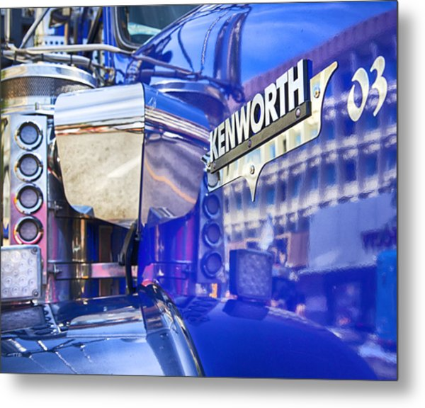 Reflecting On A Kenworth Metal Print