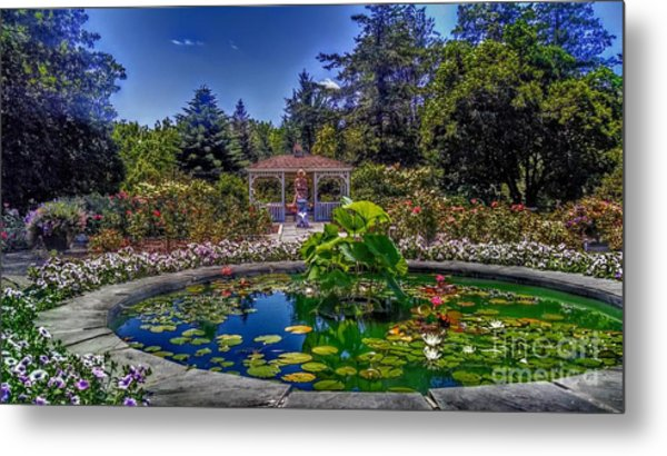 Reflecting Pool At Colonial Park Metal Print