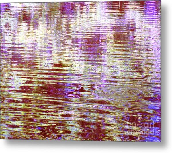 Reflecting Purple Water Metal Print
