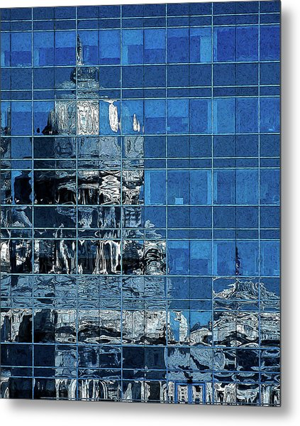 Reflection And Refraction Metal Print
