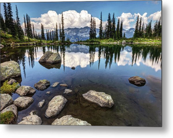 Metal Print featuring the photograph Reflection At Harmony Lake On Whistler Mountain by Pierre Leclerc Photography