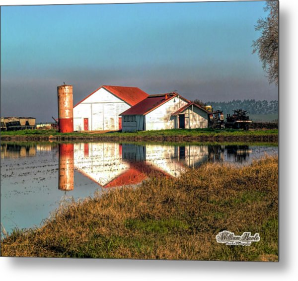 Metal Print featuring the photograph Reflection Barn  by William Havle