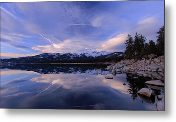 Reflection In Winter Metal Print