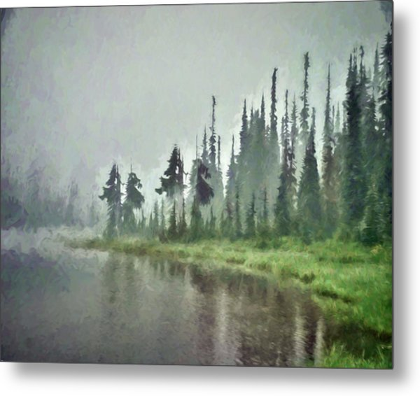 Reflection Lake, Mt Rainier Fine Art Print Metal Print