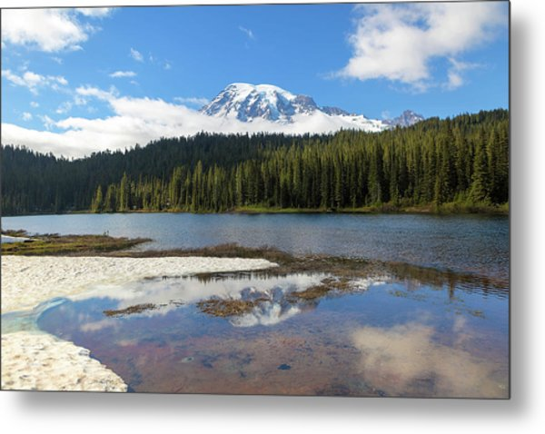 Reflection Lakes In Mount Rainier National Park Metal Print