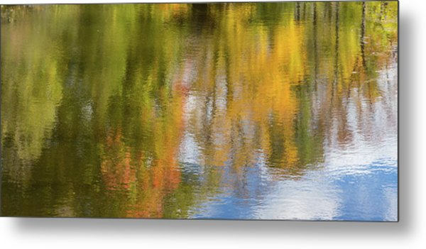 Reflection Of Fall #1, Abstract Metal Print