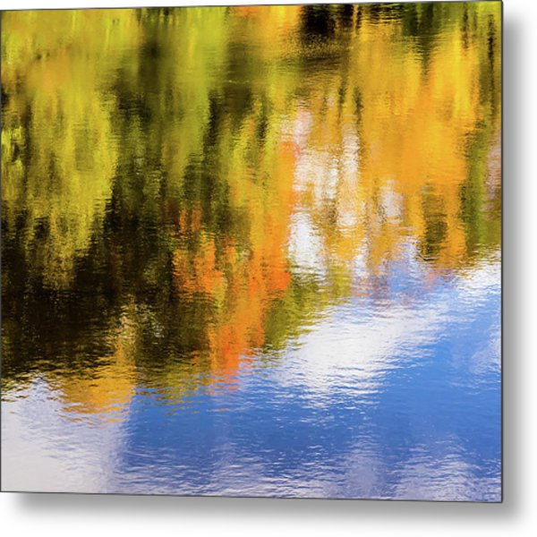 Reflection Of Fall #2, Abstract Metal Print