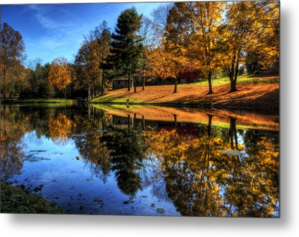 Reflection Of Northeast Ohio Fall Metal Print