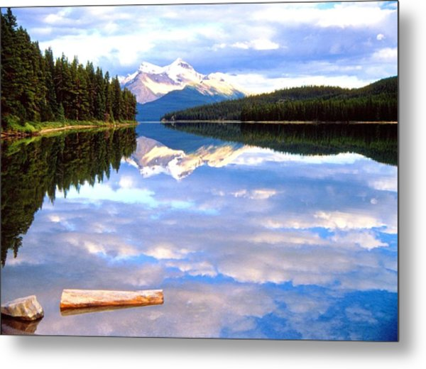 Reflection On Malign Lake Metal Print