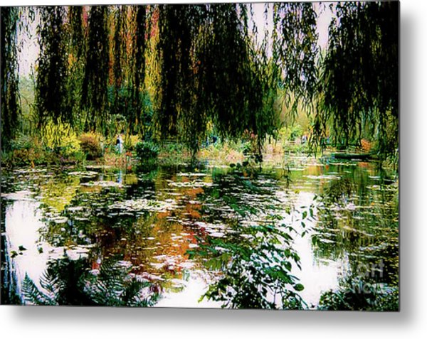 Reflection On Oscar - Claude Monet's Garden Pond Metal Print