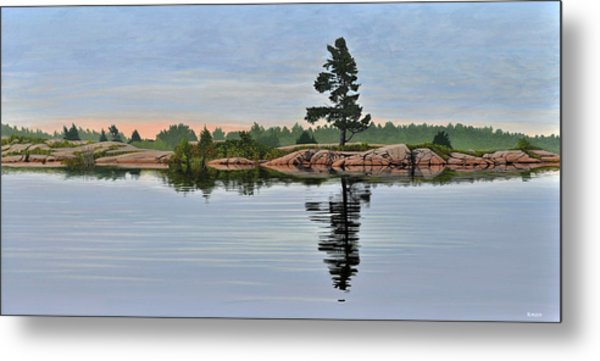 Reflection On The Bay Metal Print