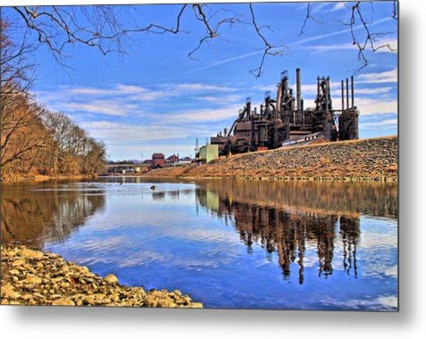 Reflection On The Lehigh - Bethlehem Pa Metal Print