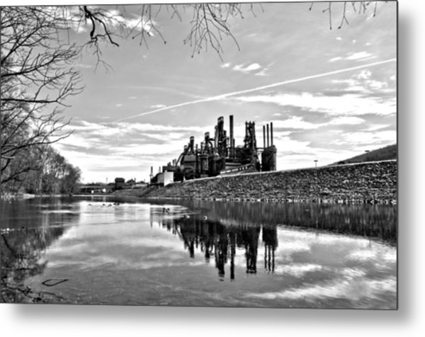 Reflection On The Lehigh Metal Print