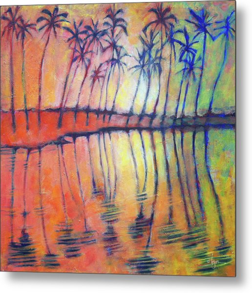 Metal Print featuring the painting Reflections by Angela Treat Lyon