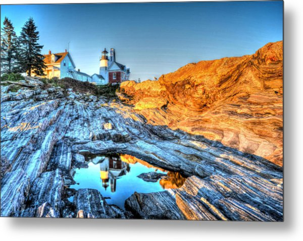 Reflections At Pemaquid Point Metal Print