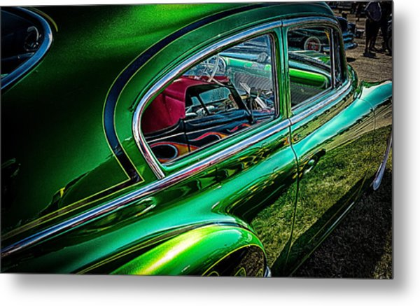 Reflections In Green Metal Print
