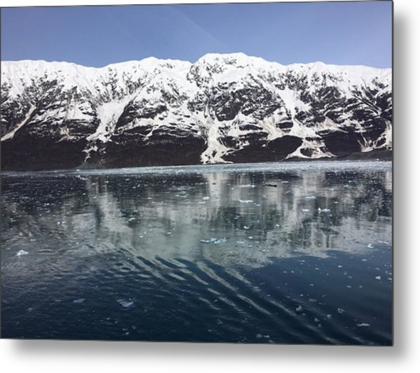 Reflections In Icy Point Alaska Metal Print