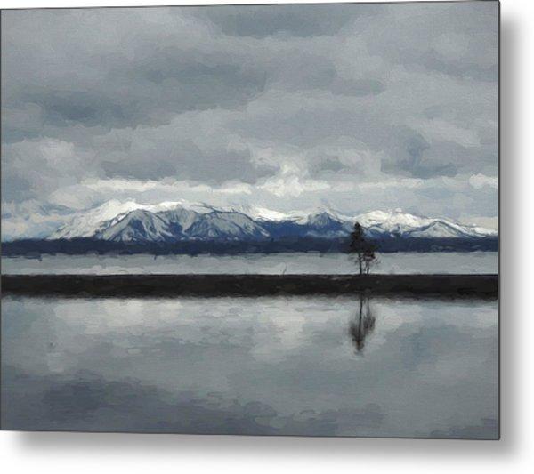 Reflections In Lake Yellowstone Metal Print