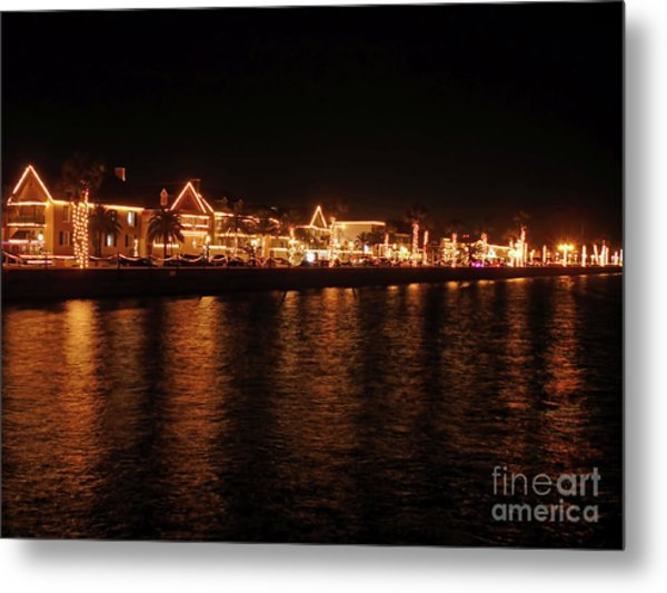Reflections In The Bay Metal Print