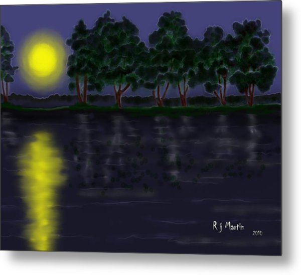 Reflections In The Moonlight Metal Print