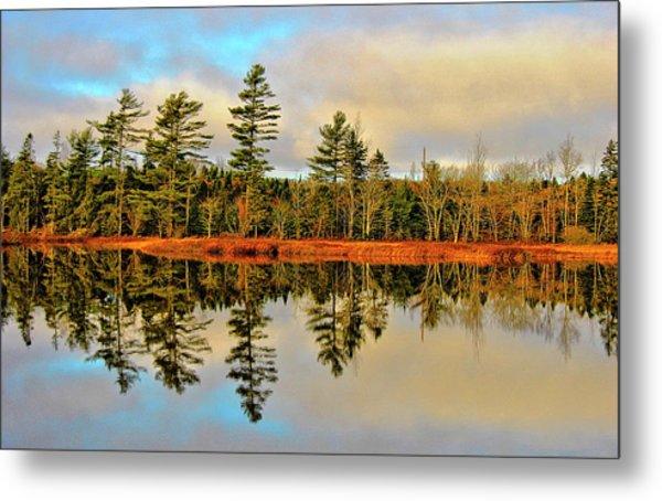 Reflections - Lake Landscape Metal Print