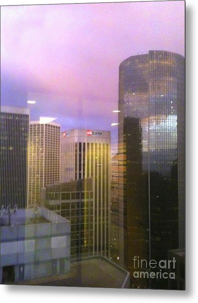 Reflections Looking East Metal Print