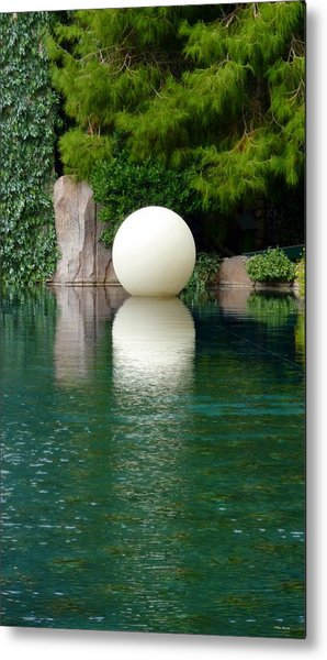 Reflections Of An Orb Metal Print by Tim Mattox