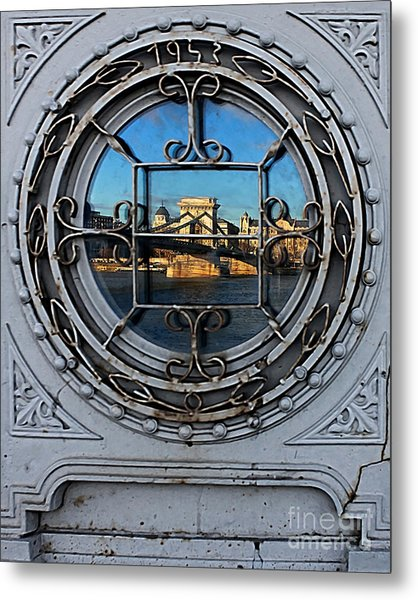 Reflections Of Budapest Metal Print