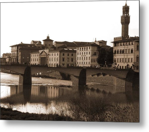 Reflections Of Florence Metal Print